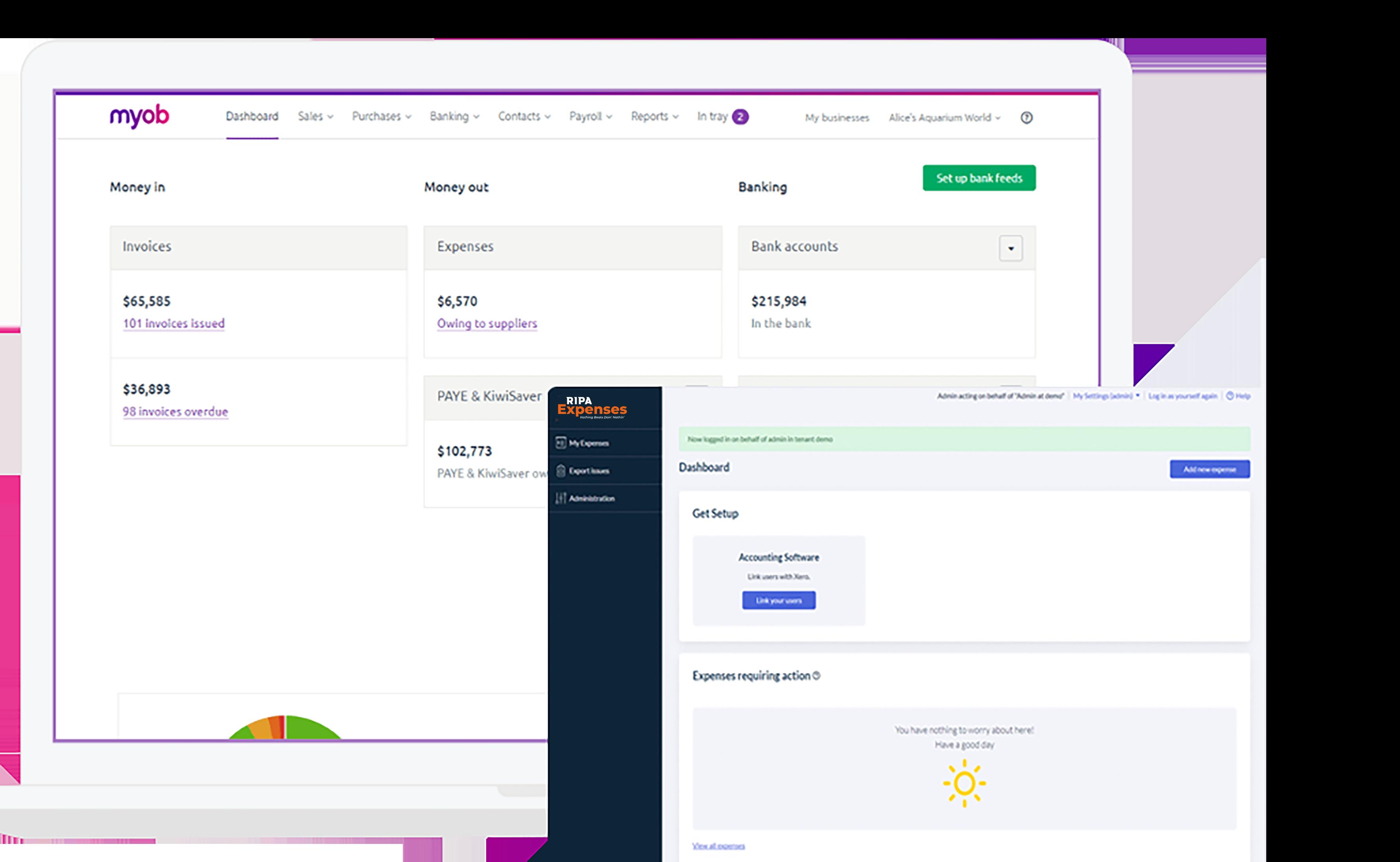 MYOB & RIP Expenses Desktop Screenshot 2